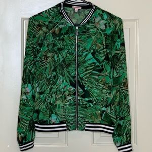 Juicy Couture jungle print jacket - sheer